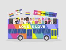 LGBTQ Parade. Homosexuality. E...