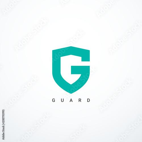 Vector guard shield icon. Guard logo Canvas-taulu