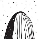 Przycięty wzór wieloryba skierowany w górę. Ilustracji wektorowych. - 208794388