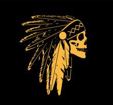 Skull Icon Wearing American In...