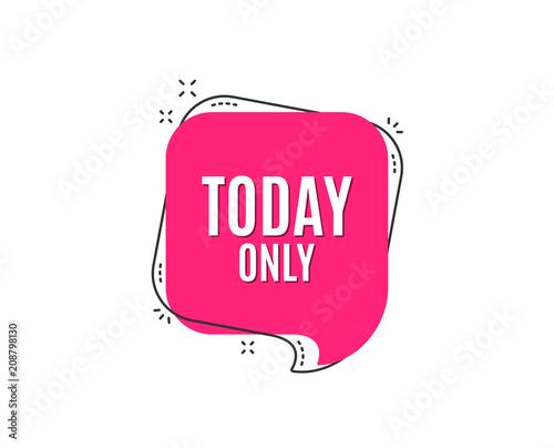 Today only sale symbol Lerretsbilde