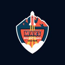 Rocket Launch To Mars. Vector ...