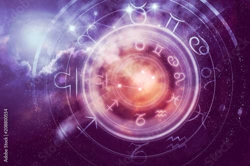Tableau sur Toile astrology horoscope background