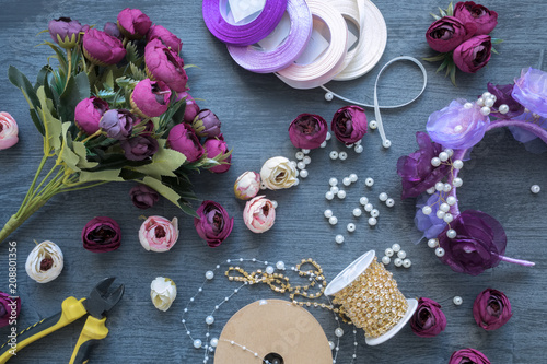 Making a artificial flowers and wreath for wedding decorating tools making a artificial flowers and wreath for wedding decorating tools and accessories for creating on junglespirit Image collections