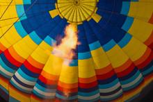 Hot Air Balloon Burner Flame On