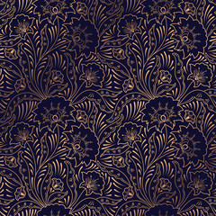Luxury background vector. Floral royal pattern seamless. Indian design for yo...