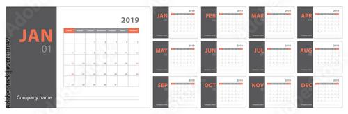 Photo 2019 calendar planning