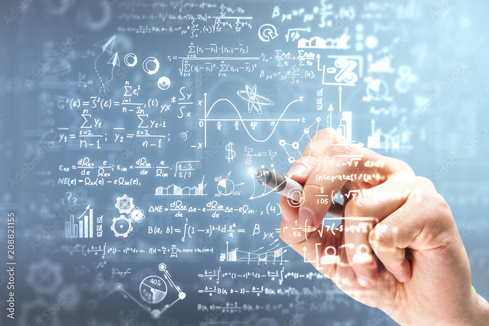 Fototapety, obrazy: Science and algebra concept