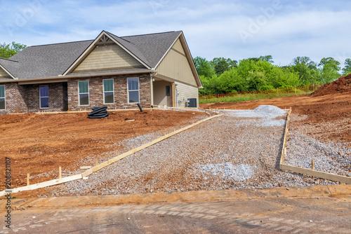 Fotografie, Obraz  Driveway Construction on New Home