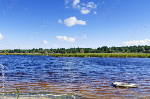 Foto op Plexiglas Meer / Vijver view of the lake with minerals and iodine in the Kherson region, Ukraine