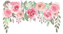 Loose Watercolor Floral Drop W...