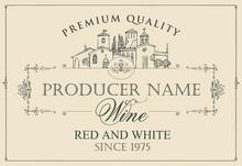 Vector Wine Label With Calligr...