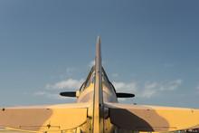 Camo Harvard, Fighter Plane, Against Sky