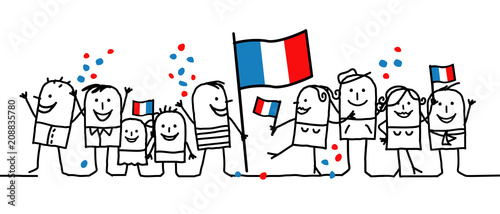 Photo Cartoon people - national french day