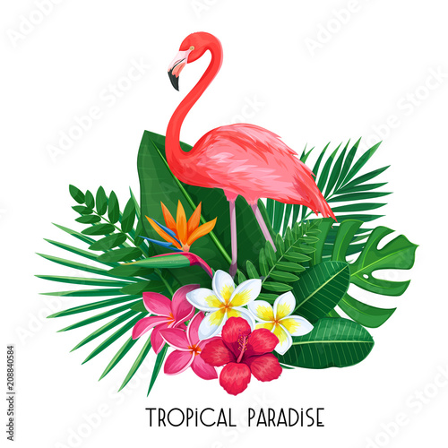 tropical banner with toucan