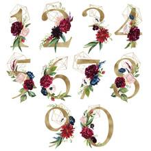 Floral Number Set - Digits 1, ...