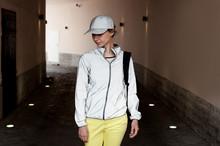Sporty Looking Woman Wearing R...