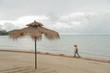 Thailand sea beach on rainy season at mak island trat province