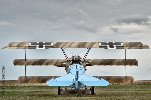 Fokker Triplane with German markings Canvas Print