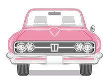 Pink Color Convertible - Front...