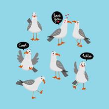 Seagull Vector.. Bird Characte...