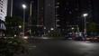 night illuminated guangzhou city downtown traffic street crossroad panorama 4k china