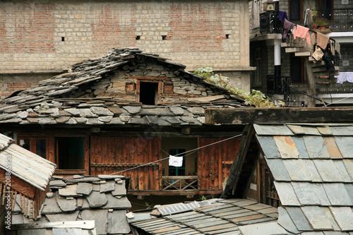 Foto op Canvas Oude gebouw Rama Temple - Vashisht
