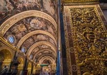 Interior Of St John's Co-Cathedral, Valletta, Malta