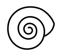 Empty Land Snail Shell Or Gast...