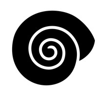 Empty Land Snail Shell Or Gastropod Shell Flat Vector Icon For Wildlife Apps And Websites