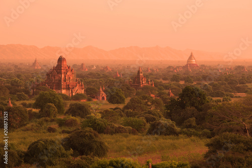 Morning of the ancient Bagan, Myanmar (Burma)