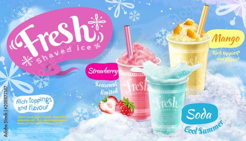 Plakaty do baru - pubu summer-frozen-ice-shaved-poster