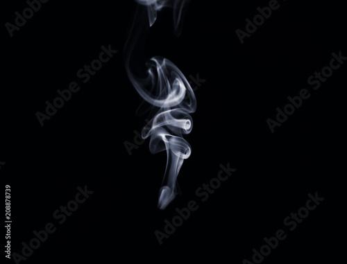 Valokuva  White smoke on dark background