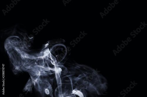 Valokuvatapetti White smoke on dark background