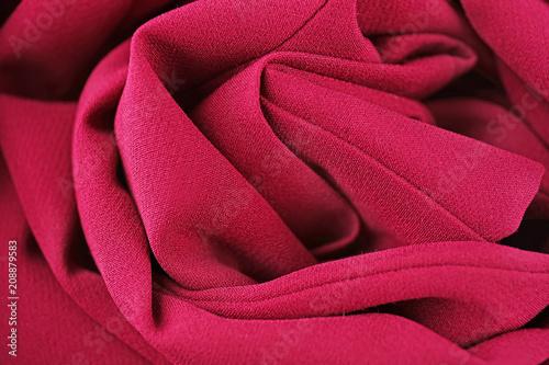 Fotobehang Stof Texture of color fabric, closeup