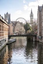 Gent, Belgium At Day, Ghent Ol...
