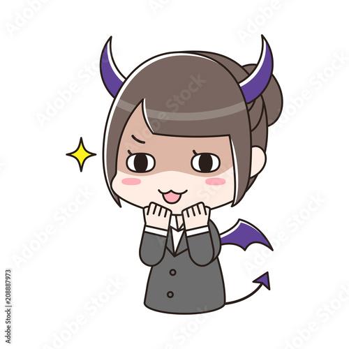 Fotografie, Obraz  良からぬことを考える悪魔なスーツ女性