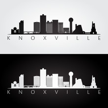 Knoxville, USA Skyline And Lan...