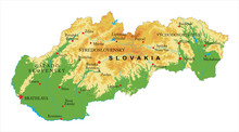 Slovakia Relief Map