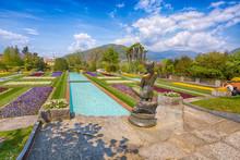PALLANZA, ITALY APRIL, 25, 2018 - Terraced Gardens In The Botanical Garden Of Villa Taranto In Pallanza, Verbania, Italy.