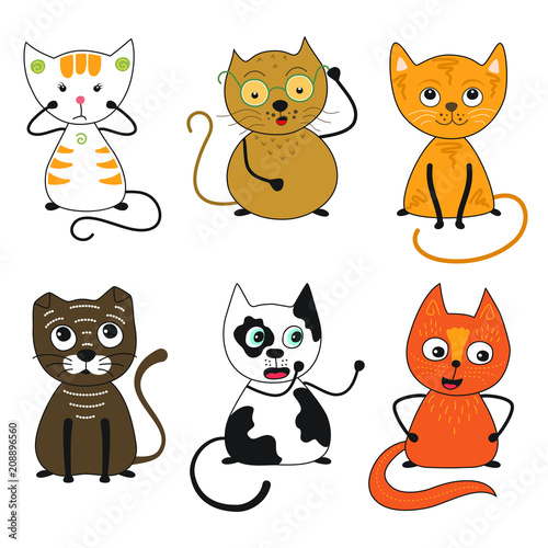 Vector Cats collection.  Cats of different breeds, cats with different moods.