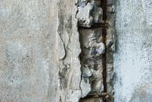Concrete Piling In States Of Disrepair.