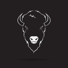 Vector Of A Buffalo Head Desig...