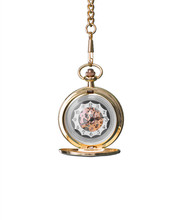 Vintage Pocket Watch Isolated ...