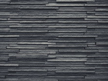 Black Tiles Slate Wall Pattern Architecture Details Background