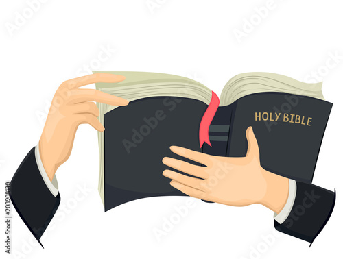 Photo Hands Holy Bible Illustration
