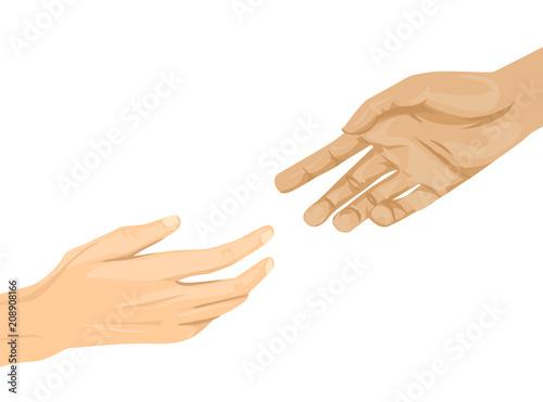 Photo Hands Help Illustration