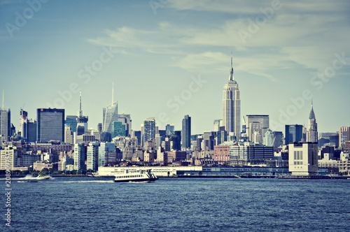 Poster New York City Manhattan skyline with the Empire State Building, New York, USA