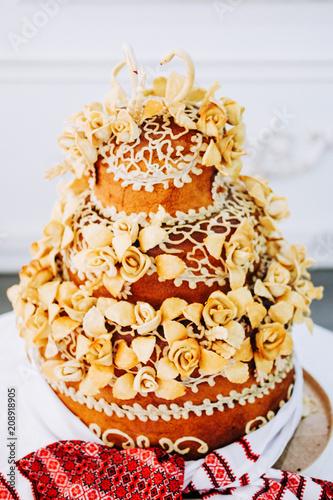 Fotografía  Traditional Eastern European wedding dessert
