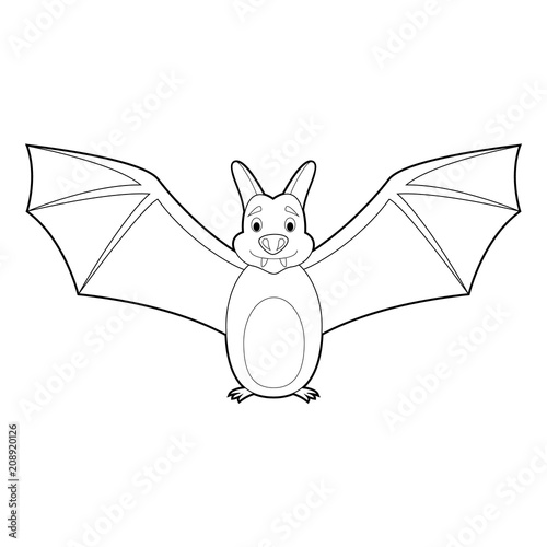 Easy Coloring Animals For Kids Bat Buy This Stock Vector And